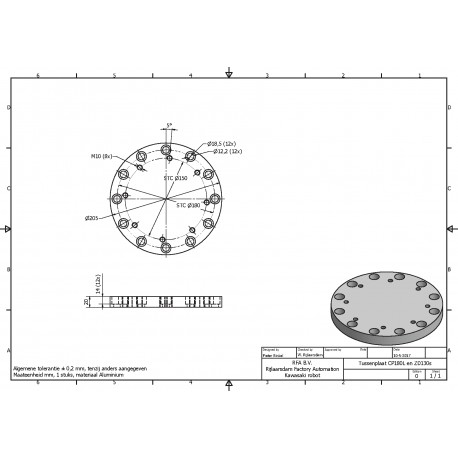 Tussenflens CP180L ex ZD130S, UD100