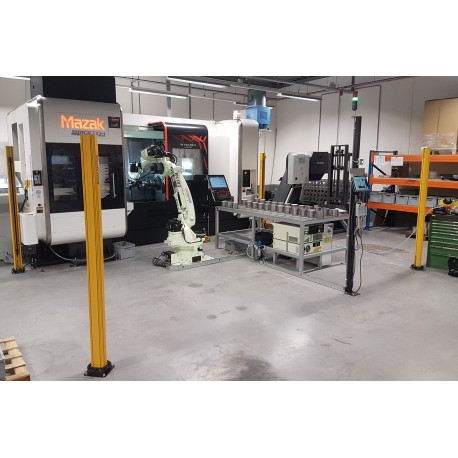 RFA Robotloader CX210L met RFA-Raster bij Mazak Integrex I-200ST