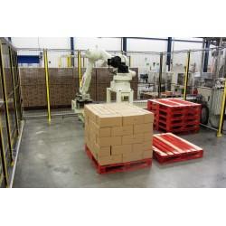 RFA Robotpalletiser systeem RD080N voor 1 lijn met handmatige afvoer beladen pallets