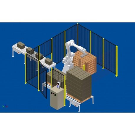 RFA RD080N Robot Palletiseersysteem voor 1 lijn met 1 palletbaan