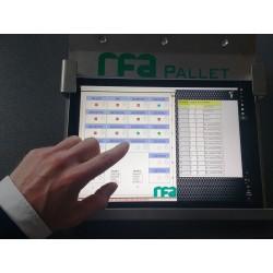 Overzicht status pallets in magazijn in RFA-Pallet