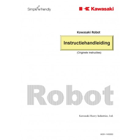 Instructie Handleiding Kawasaki Robots