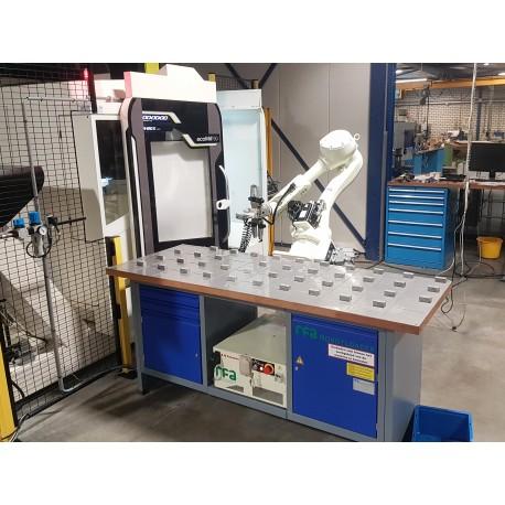 RFA Robotloader RS020N met RFA-Raster bij DMG-Mori freesmachine
