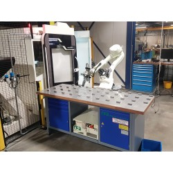 RFA Robotloader RS020N with RFA-Raster loading DMG-Mori milling machine