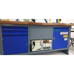 Werkbank met ingebouwde robotbesturing E91 en interface in onderkast